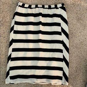 Madewell broadway and broome striped medium skirt